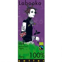 Zotter Labooko 100% Dark Peru Chocolate 70g